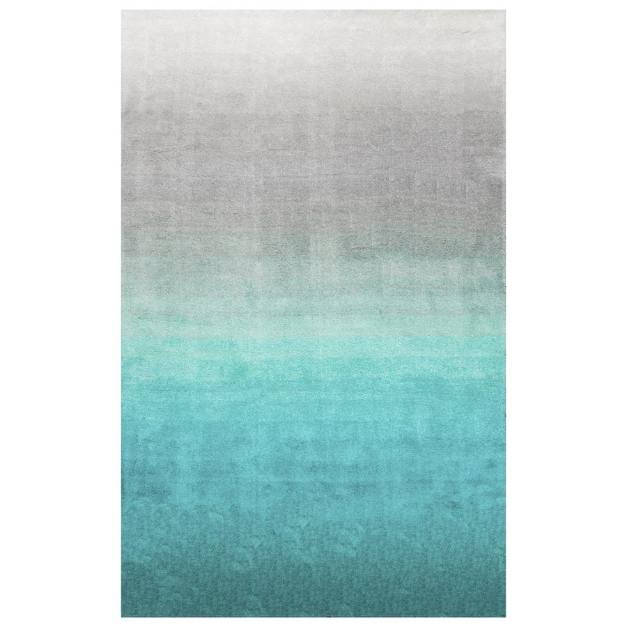 nuLOOM Turquoise Rectangular Indoor Handcrafted Coastal Area Rug (Common: 8 X 10; Actual: 8-ft W x 10-ft L)
