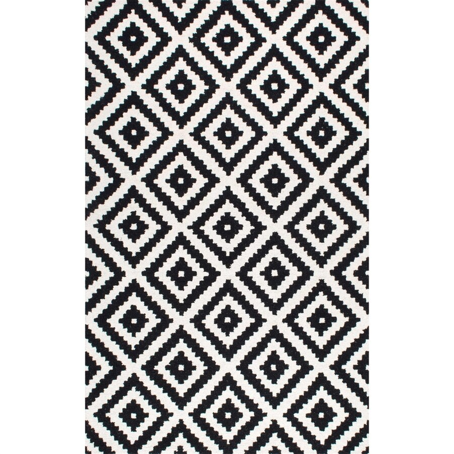 nuLOOM Black Rectangular Indoor Handcrafted Area Rug (Common: 5 X 8; Actual: 5-ft W x 8-ft L)