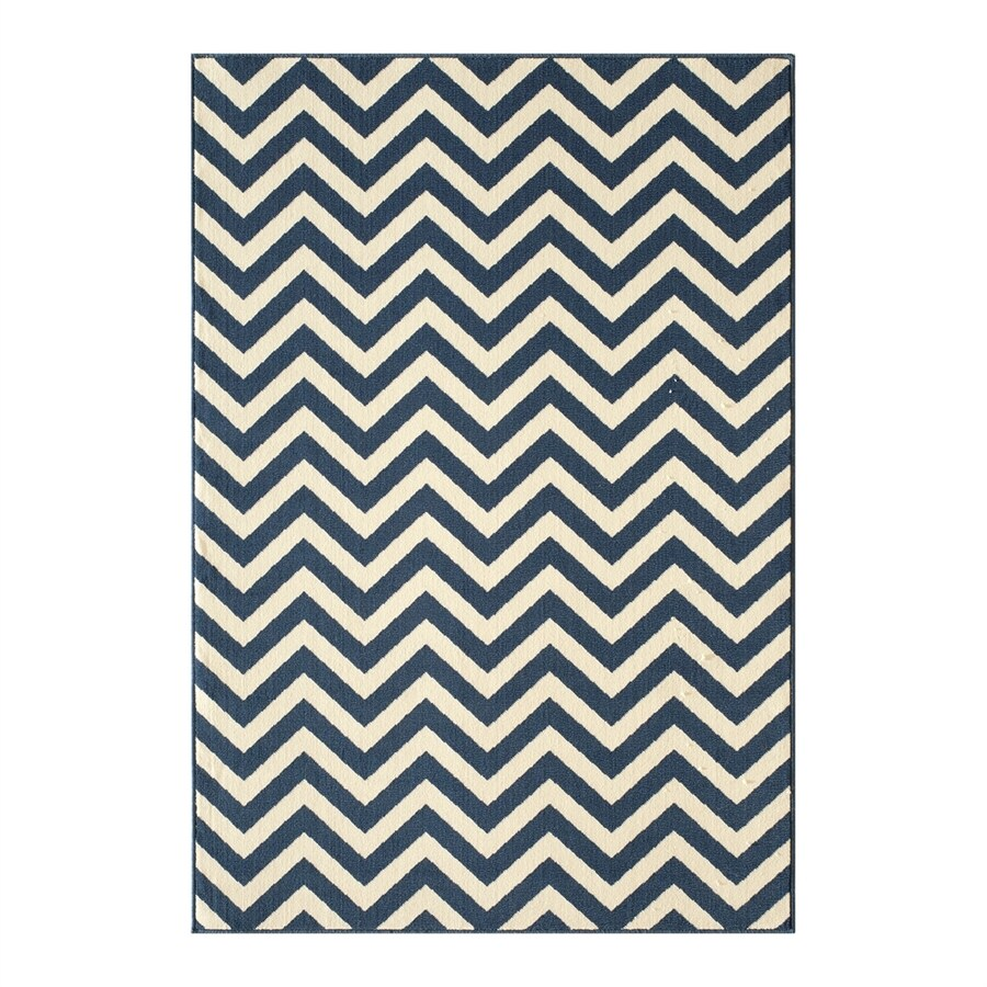 Momeni Baja Navy Rectangular Indoor/Outdoor Machine-made Area Rug (Common: 9 X 13; Actual: 8.5-ft W x 13-ft L)