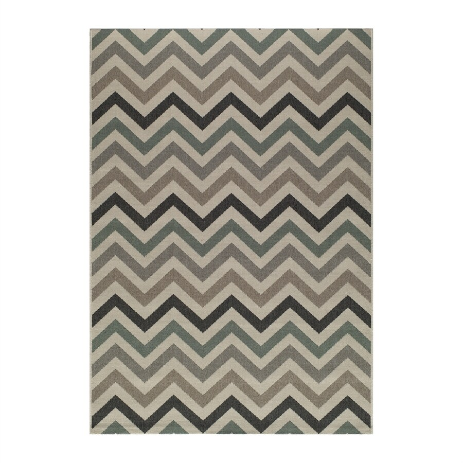 Momeni Baja Sage Rectangular Indoor/Outdoor Machine-made Area Rug (Common: 8 X 11; Actual: 7.833-ft W x 10.833-ft L)