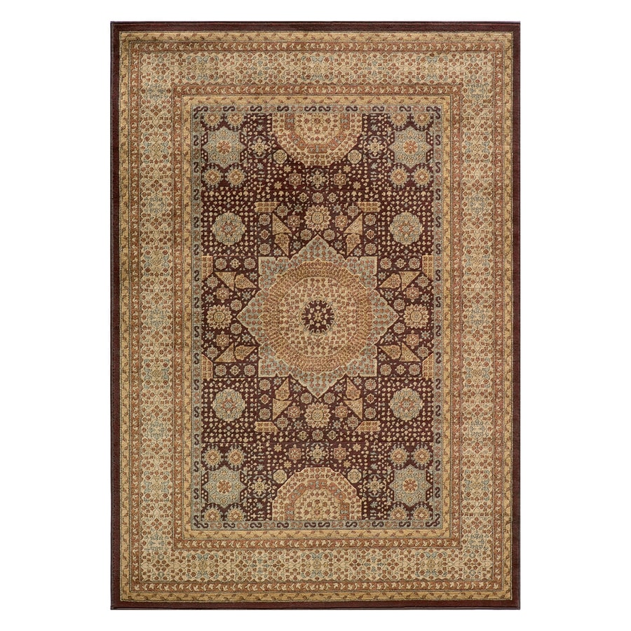 Momeni Belmont Brown Rectangular Indoor Machine-made Oriental Area Rug (Common: 4 X 6; Actual: 3.91-ft W x 5.583-ft L)