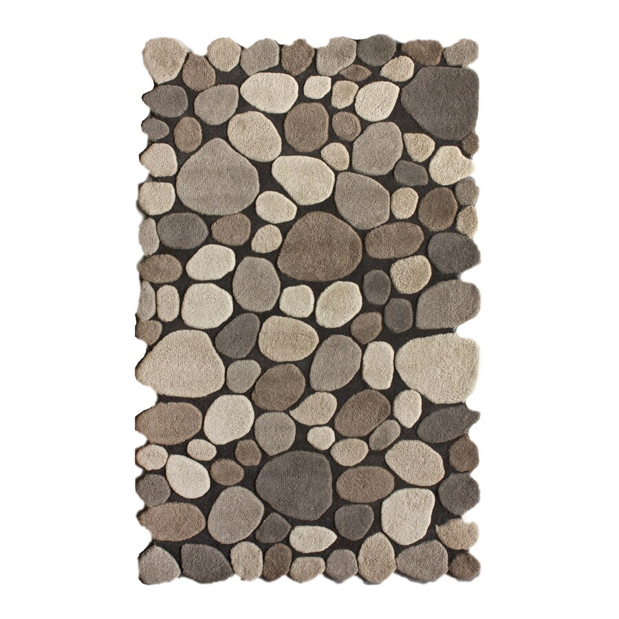 nuLOOM Grey Rectangular Indoor Handcrafted Nature Area Rug (Common: 5 X 8; Actual: 5-ft W x 8-ft L)