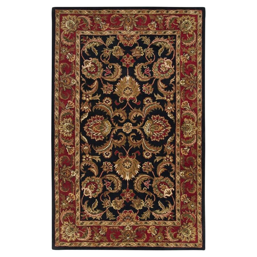 Surya Ancient Treasures Multicolor Rectangular Indoor Handcrafted Oriental Area Rug (Common: 5 x 8; Actual: 5-ft W x 8-ft L)