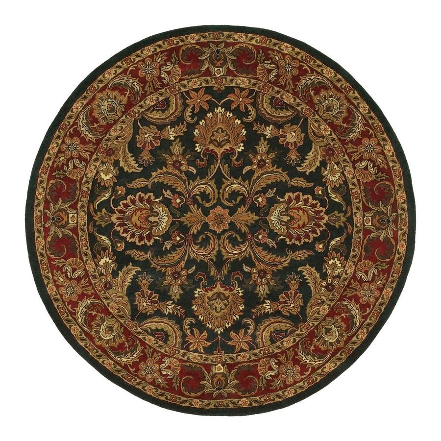 Surya Ancient Treasures Multicolor Round Indoor Handcrafted Oriental Area Rug (8-ft dia)