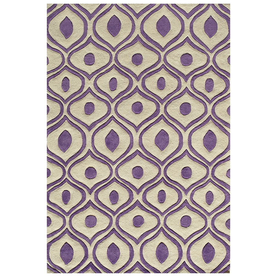 Momeni Bliss Purple Rectangular Indoor Handcrafted Area Rug (Common: 5 X 8; Actual: 5-ft W x 7.5-ft L)