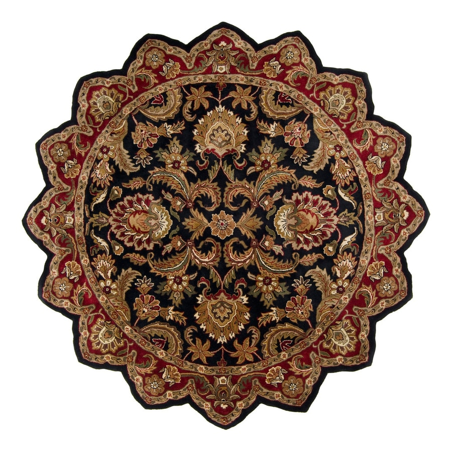 Surya Ancient Treasures Multicolor Irregular Indoor Handcrafted Oriental Area Rug (8-ft dia)