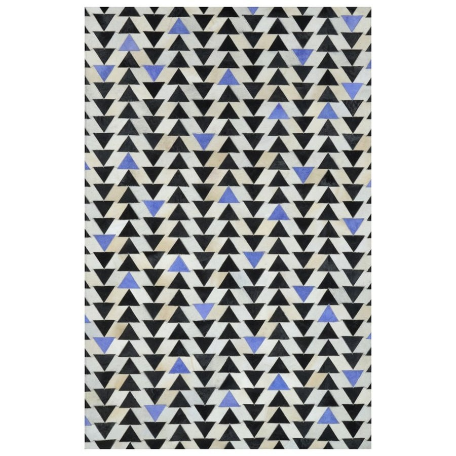 nuLOOM Blue Rectangular Indoor Handcrafted Area Rug (Common: 5 X 8; Actual: 5-ft W x 8-ft L)