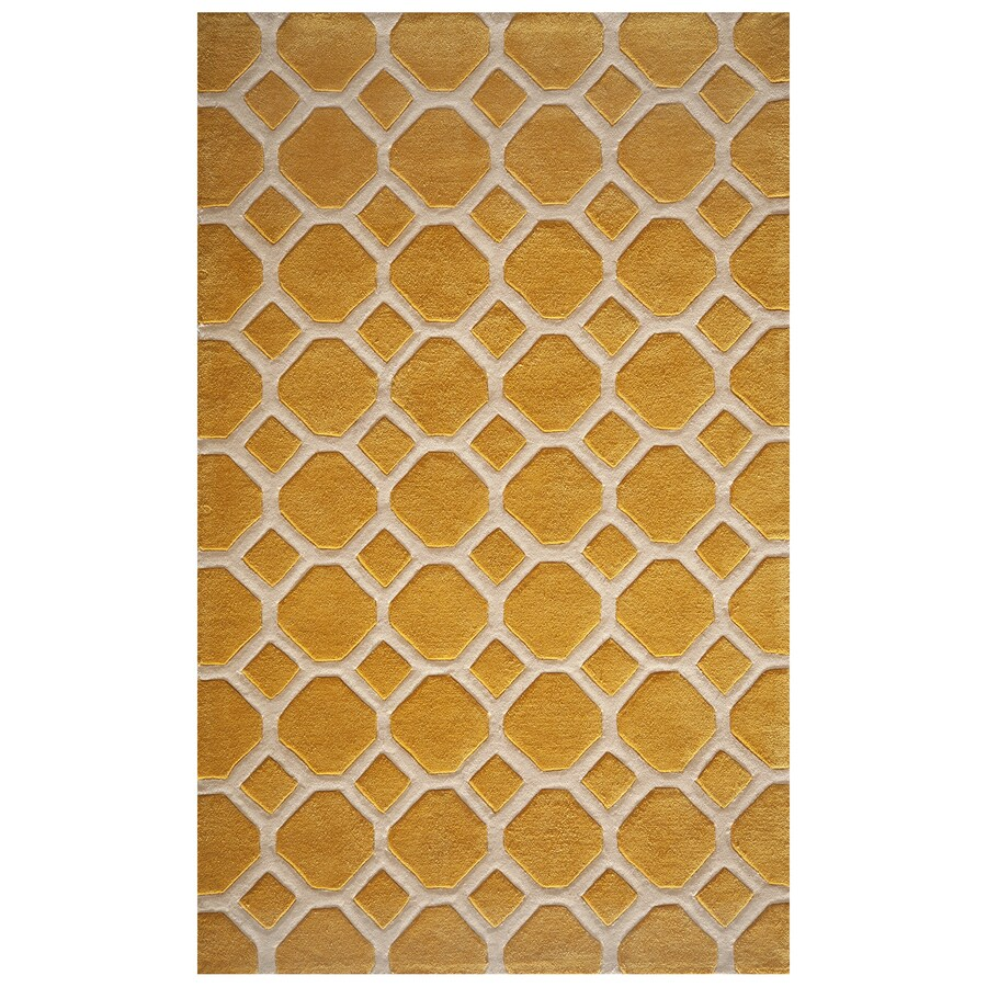 Momeni Bliss Gold Rectangular Indoor Handcrafted Area Rug (Common: 4 X 6; Actual: 3.5-ft W x 5.5-ft L)