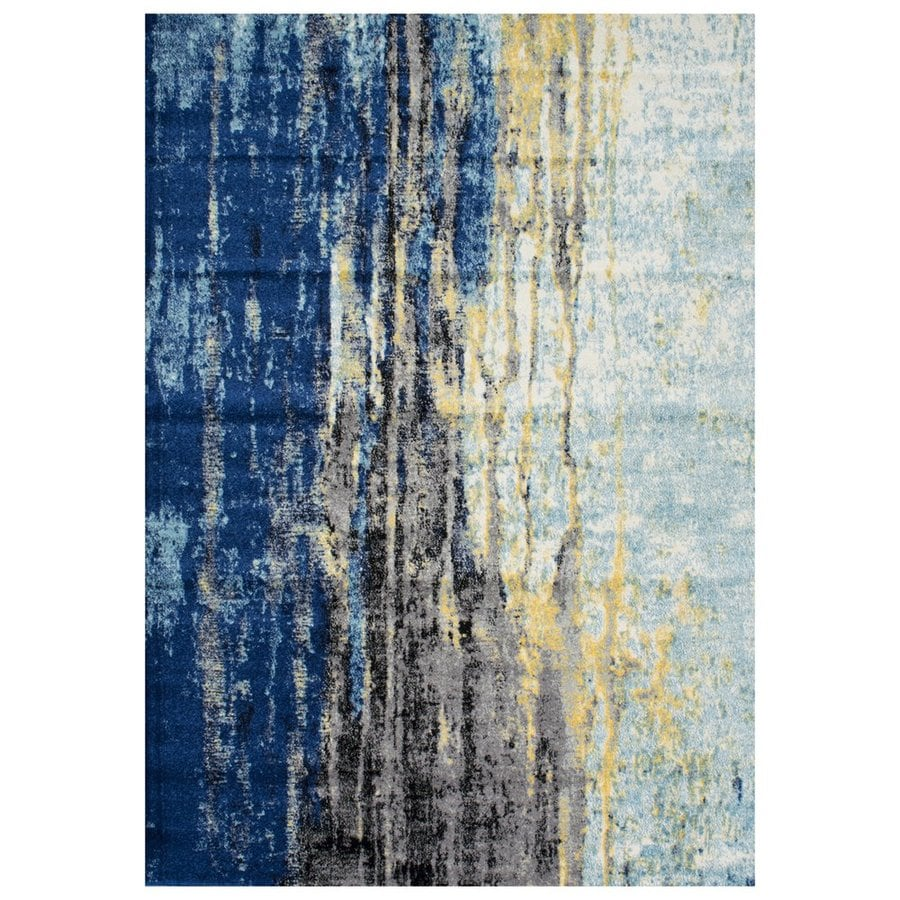 nuLOOM Blue Rectangular Indoor Handcrafted Distressed Area Rug (Common: 5 X 8; Actual: 5.25-ft W x 7.75-ft L)