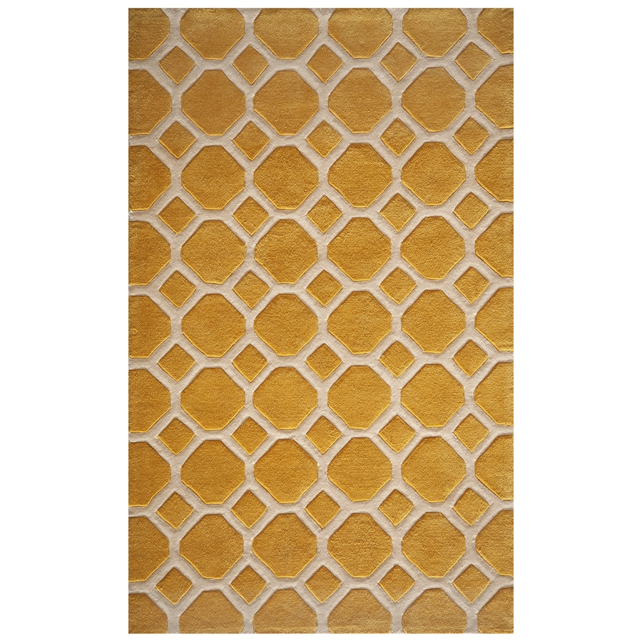 Momeni Bliss Gold Rectangular Indoor Handcrafted Area Rug (Common: 5 X 8; Actual: 5-ft W x 7.5-ft L)