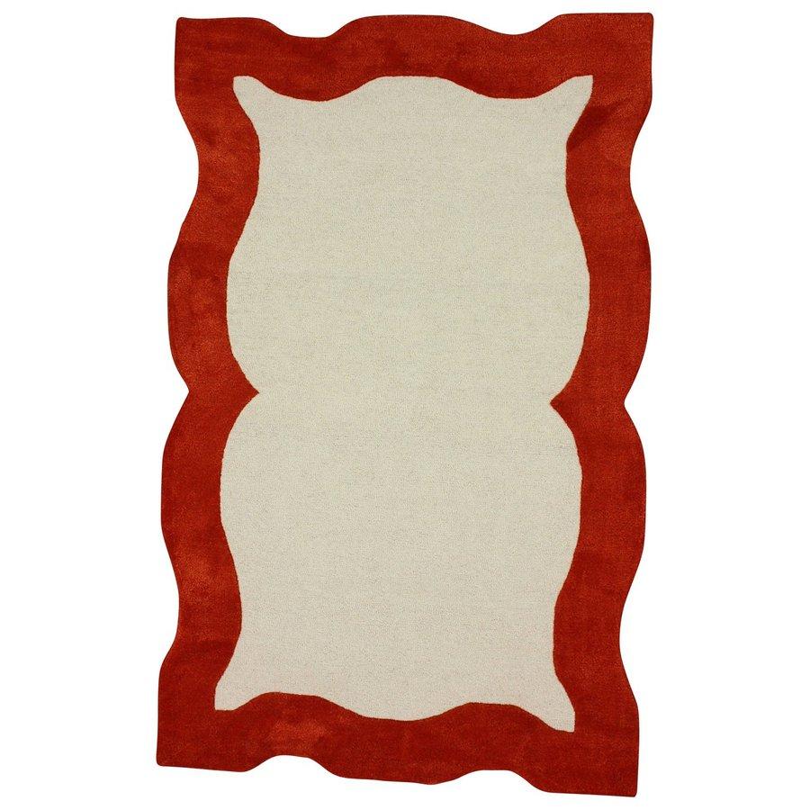 nuLOOM Orange Rectangular Indoor Handcrafted Area Rug (Common: 8 X 10; Actual: 7.5-ft W x 9.5-ft L)