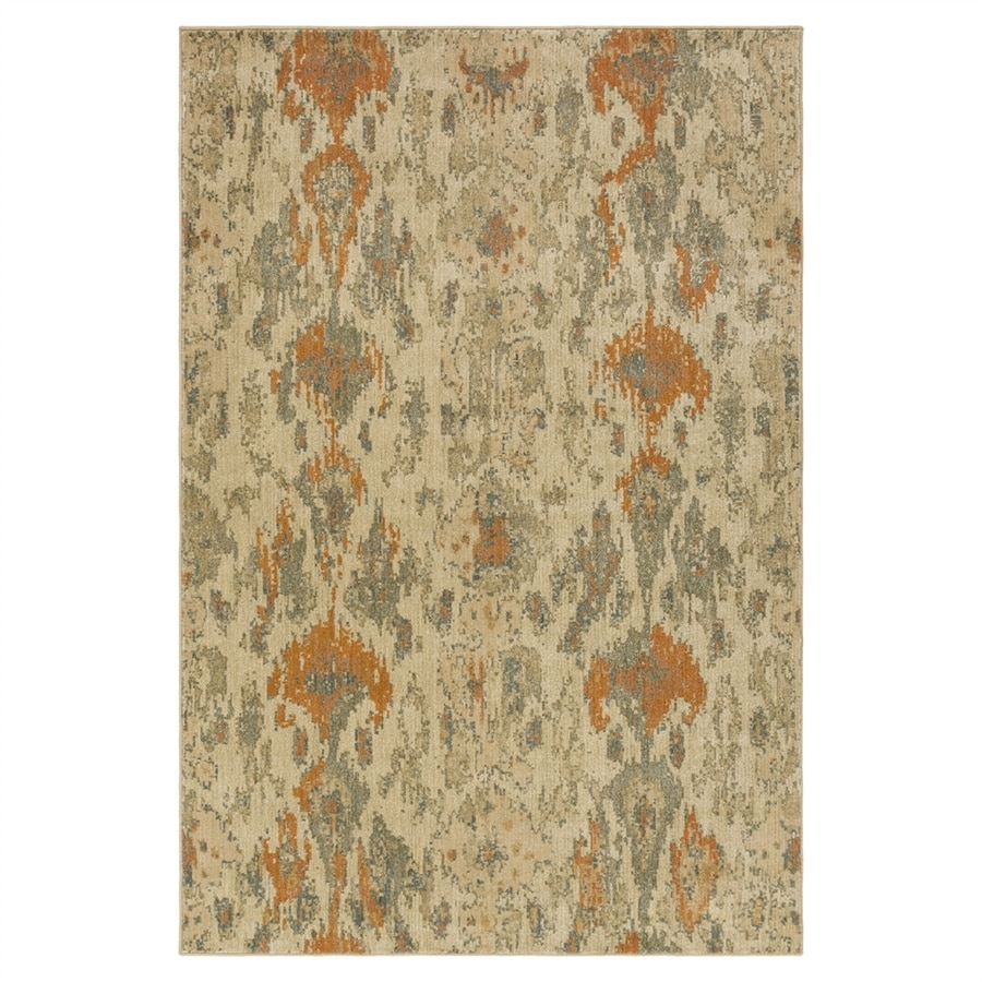 Surya Arabesque Neutral/brown Rectangular Indoor Machine-made Throw Rug (Common: 2 x 3; Actual: 1-ft 10-in W x 2-ft 11-in L)