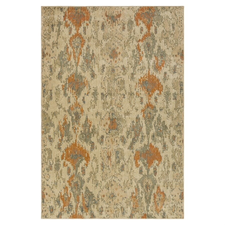 Surya Arabesque Neutral/brown Rectangular Indoor Machine-made Throw Rug (Common: 3 x 5; Actual: 2-ft 7-in W x 4-ft 7-in L)