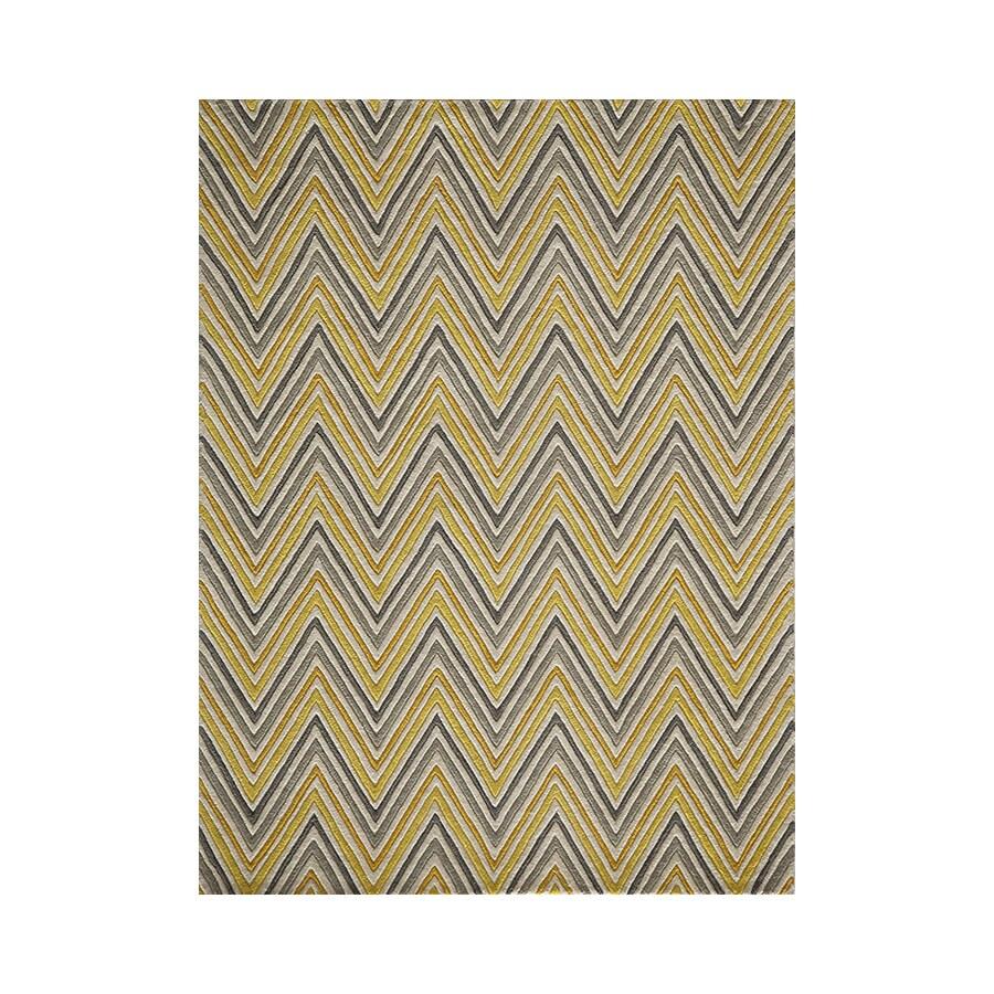 Momeni Delhi Yellow Rectangular Indoor Handcrafted Area Rug (Common: 4 X 6; Actual: 3.5-ft W x 5.5-ft L)