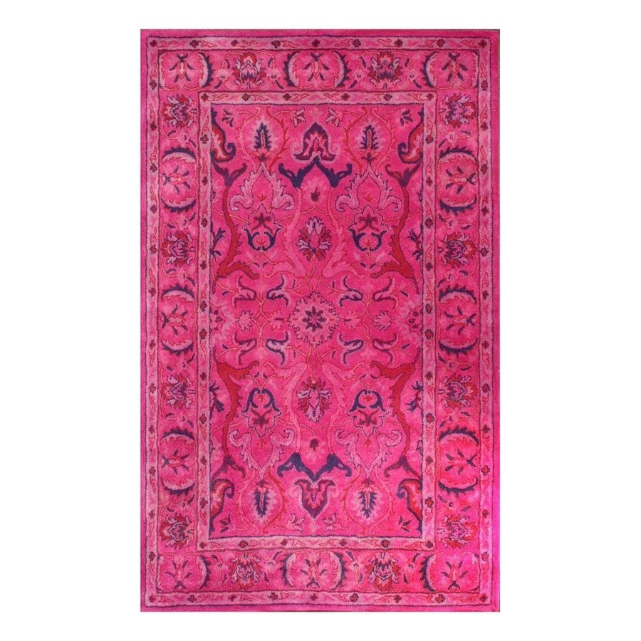 nuLOOM Pink Rectangular Indoor Handcrafted Area Rug (Common: 5 X 8; Actual: 5-ft W x 8-ft L)