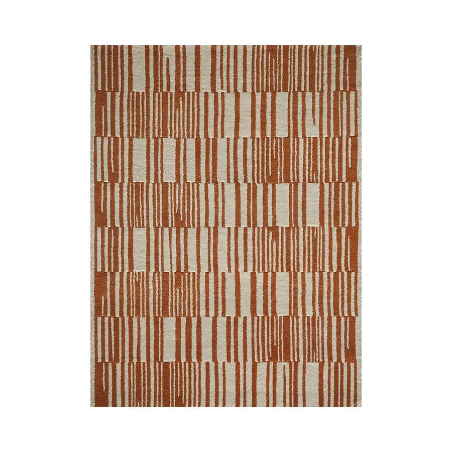 Momeni Delhi Orange Rectangular Indoor Handcrafted Area Rug (Common: 8 X 10; Actual: 8-ft W x 10-ft L)