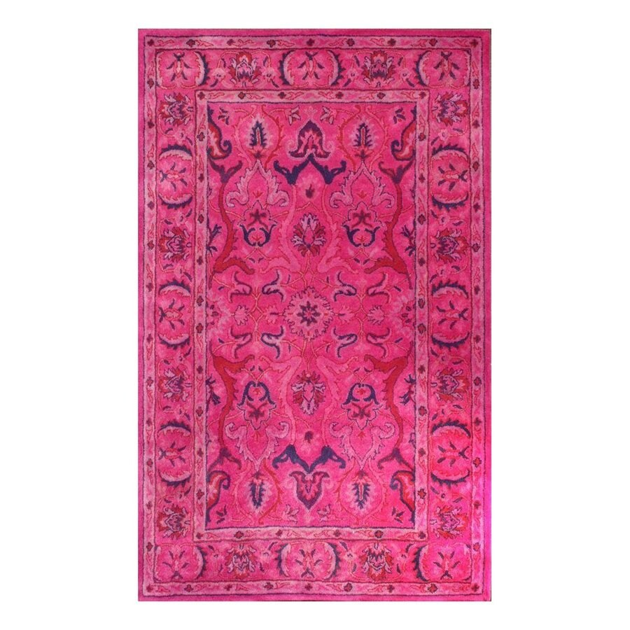 nuLOOM Pink Rectangular Indoor Handcrafted Area Rug (Common: 8 X 10; Actual: 7.5-ft W x 9.5-ft L)
