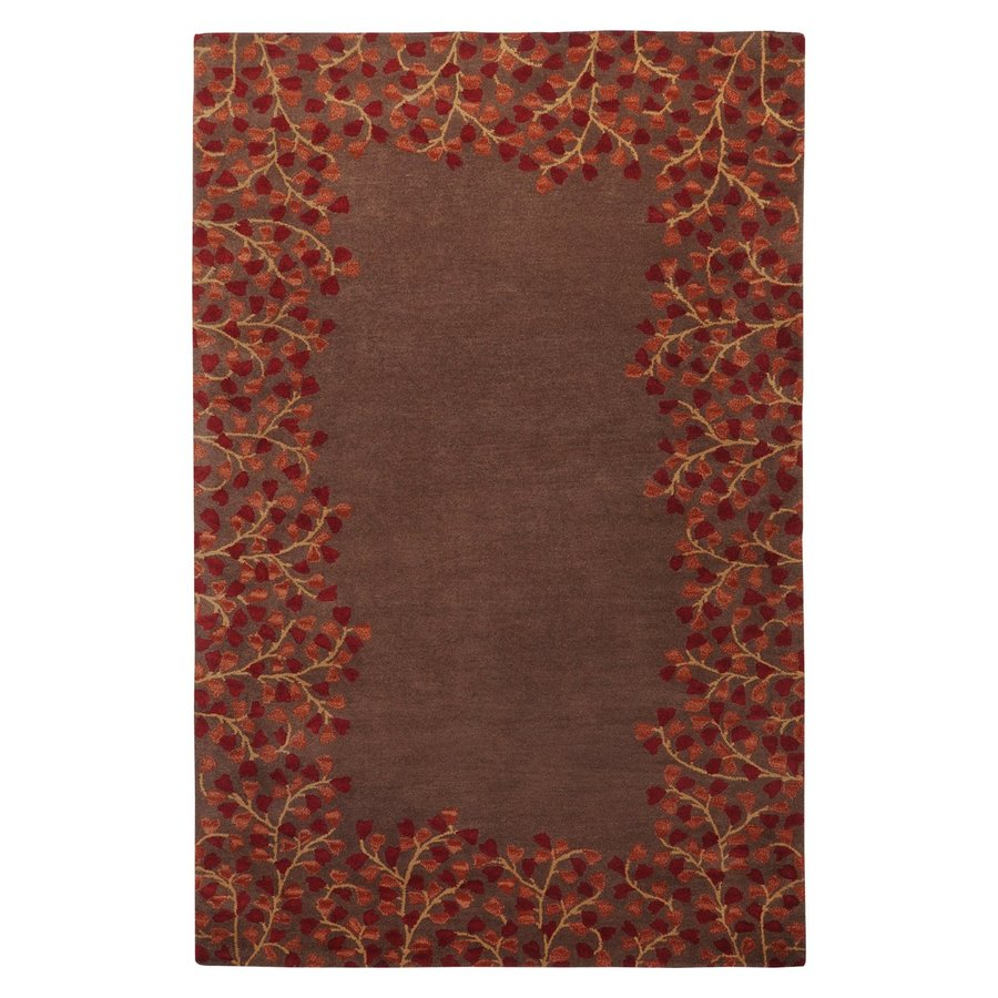 Surya Athena Chocolate Rectangular Indoor Handcrafted Nature Throw Rug (Common: 2 x 3; Actual: 2-ft W x 3-ft L)