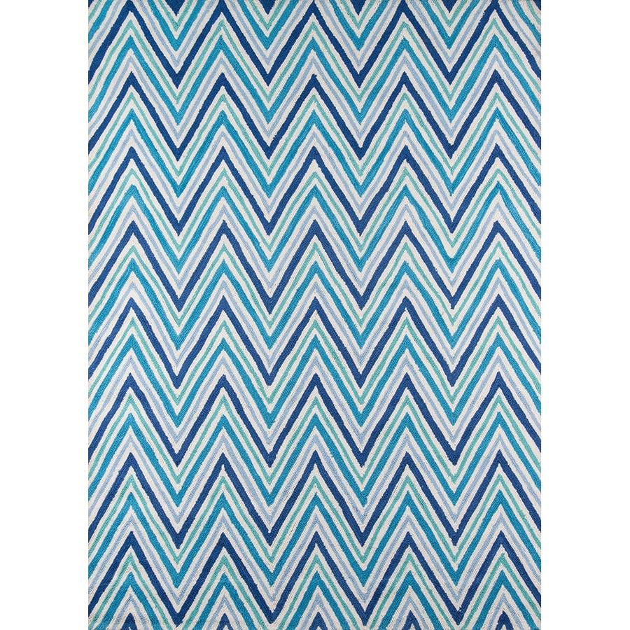 Momeni Geo Blue Rectangular Indoor Handcrafted Area Rug (Common: 8 X 10; Actual: 7.5-ft W x 9.5-ft L)
