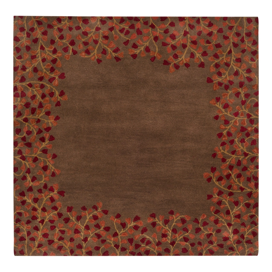 Surya Athena Chocolate Square Indoor Handcrafted Nature Area Rug (Common: 4 x 4; Actual: 4-ft W x 4-ft L)