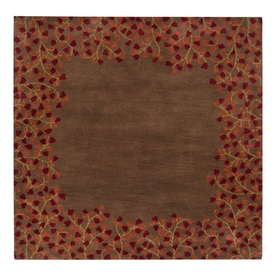 Surya Athena Chocolate Square Indoor Handcrafted Nature Area Rug Common 4 X
