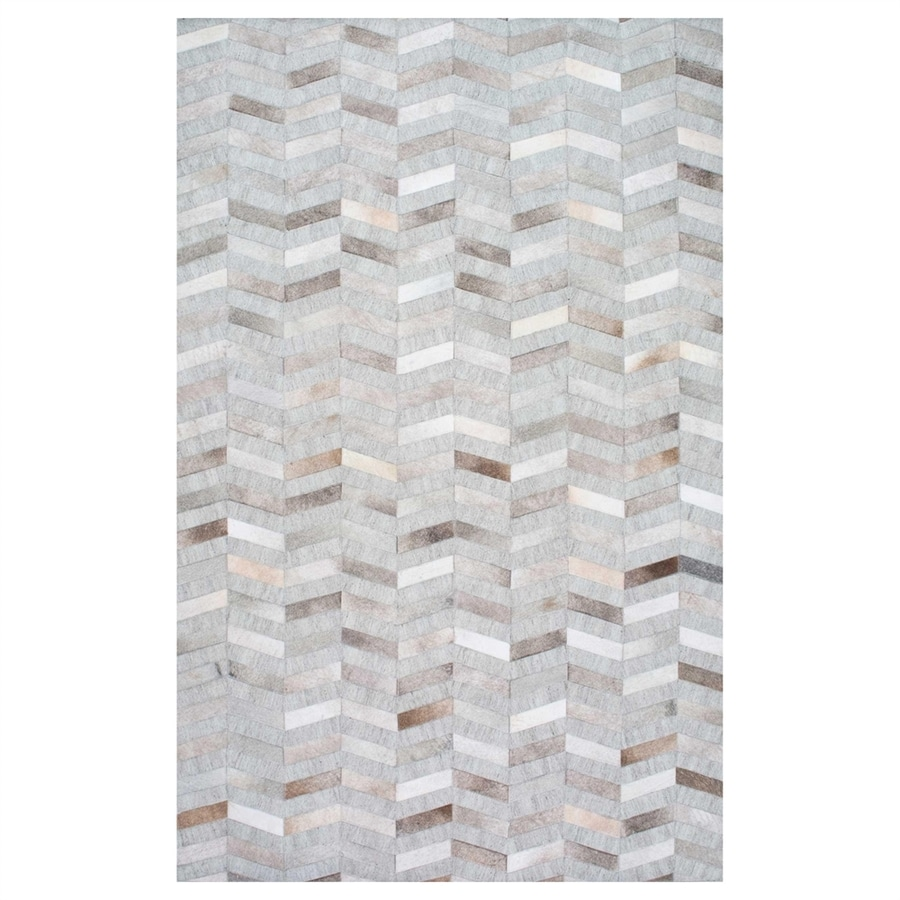 nuLOOM Silver Rectangular Indoor Handcrafted Area Rug (Common: 5 X 8; Actual: 5-ft W x 8-ft L)