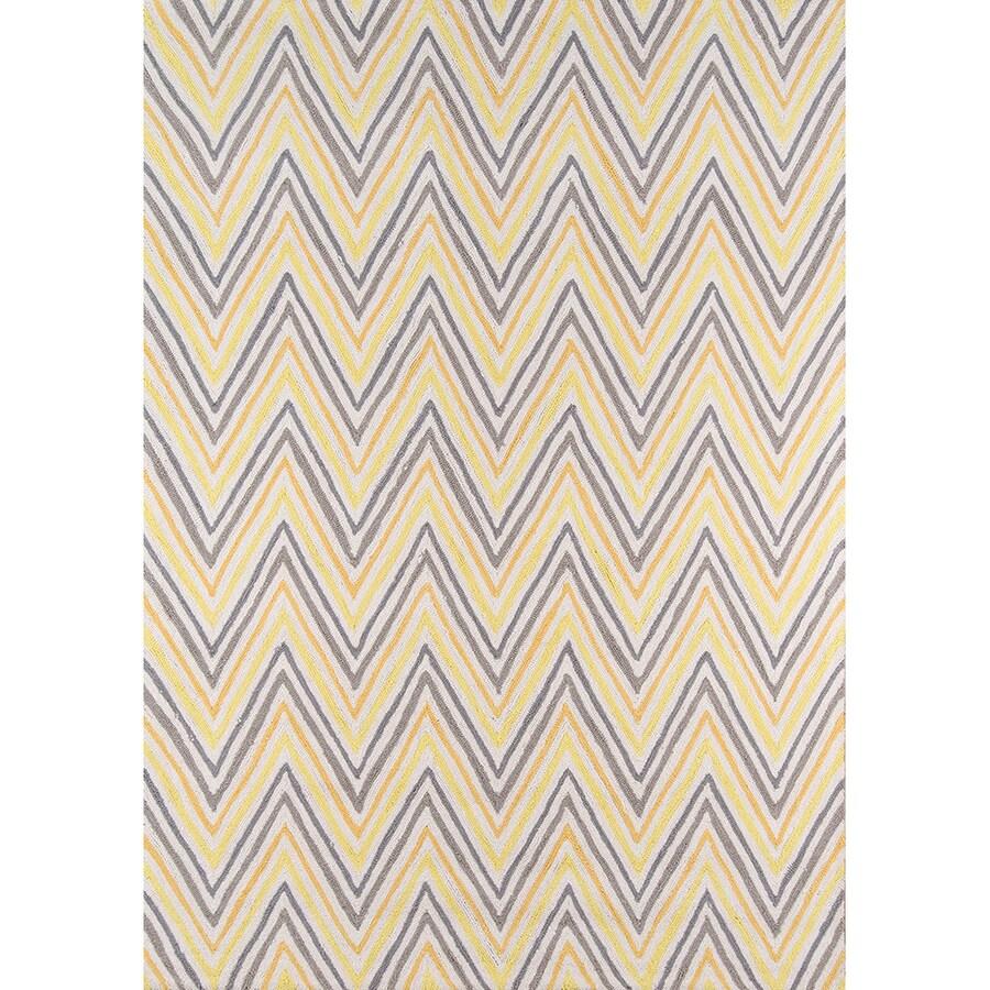 Momeni Geo Gold Rectangular Indoor Handcrafted Area Rug (Common: 4 X 6; Actual: 3.5-ft W x 5.5-ft L)