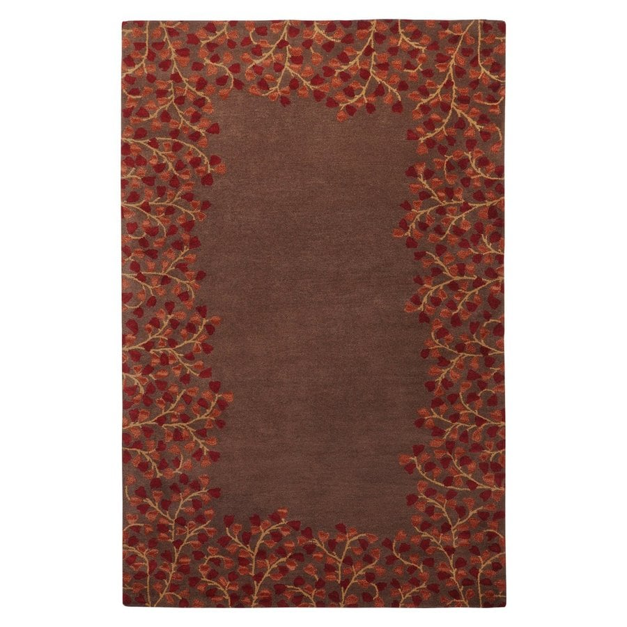 Surya Athena Chocolate Rectangular Indoor Handcrafted Nature Area Rug (Common: 6 x 9; Actual: 6-ft W x 9-ft L)