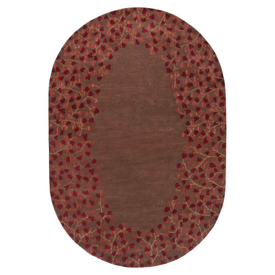 Surya Athena Chocolate Oval Indoor Handcrafted Nature Area Rug (Common: 6 x 9; Actual: 6-ft W x 9-ft L)