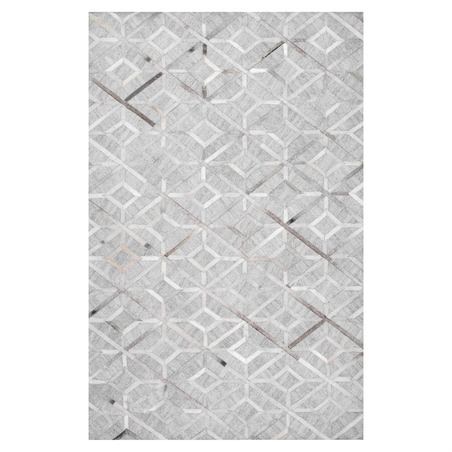 nuLOOM Grey Rectangular Indoor Handcrafted Area Rug (Common: 5 X 8; Actual: 5-ft W x 8-ft L)