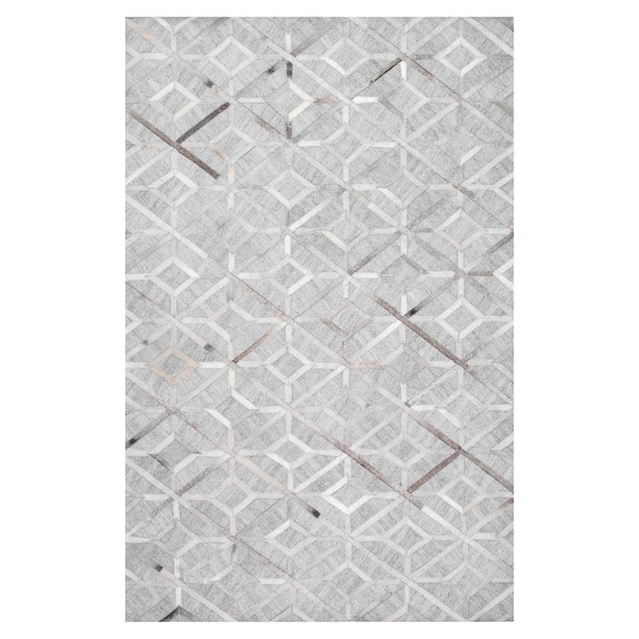 nuLOOM Grey Rectangular Indoor Handcrafted Area Rug (Common: 8 X 10; Actual: 8-ft W x 10-ft L)