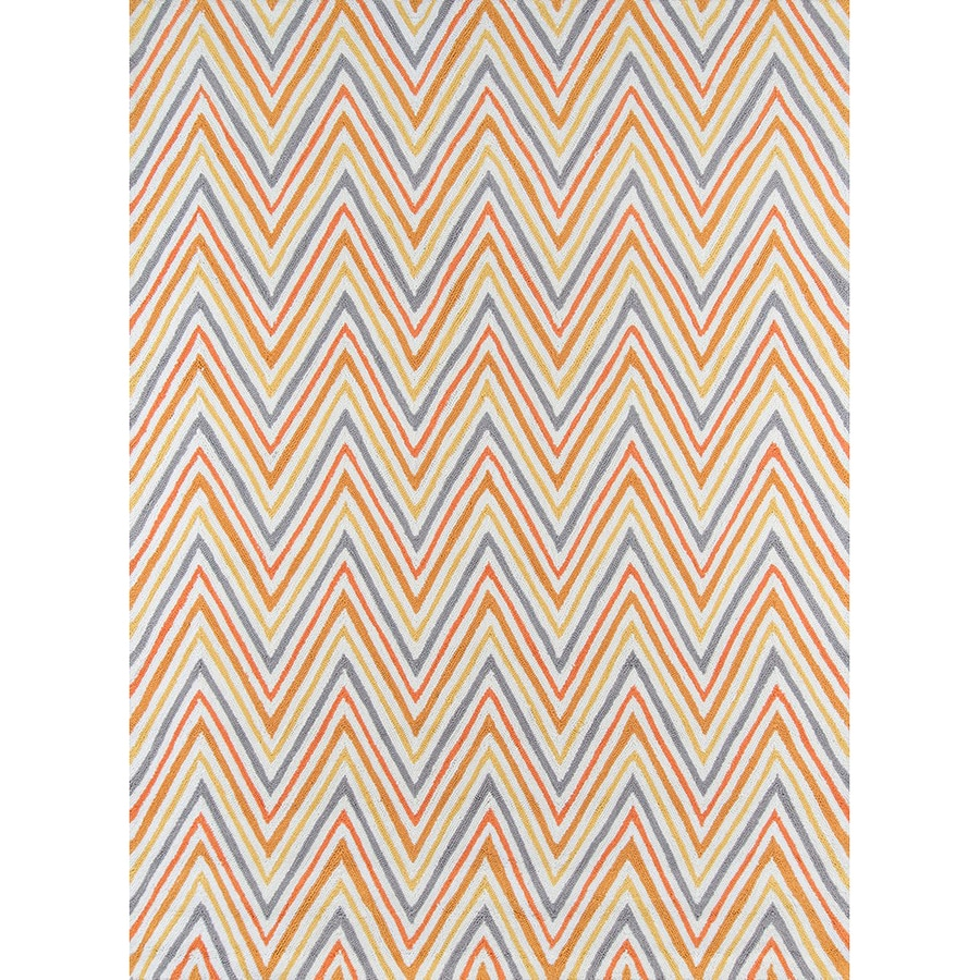 Momeni Geo Orange Rectangular Indoor Handcrafted Area Rug (Common: 5 X 7; Actual: 5-ft W x 7-ft L)