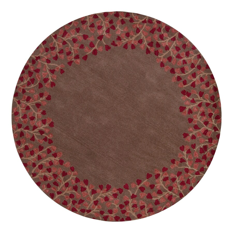 Surya Athena Chocolate Round Indoor Handcrafted Nature Area Rug (9-ft 9-in dia)