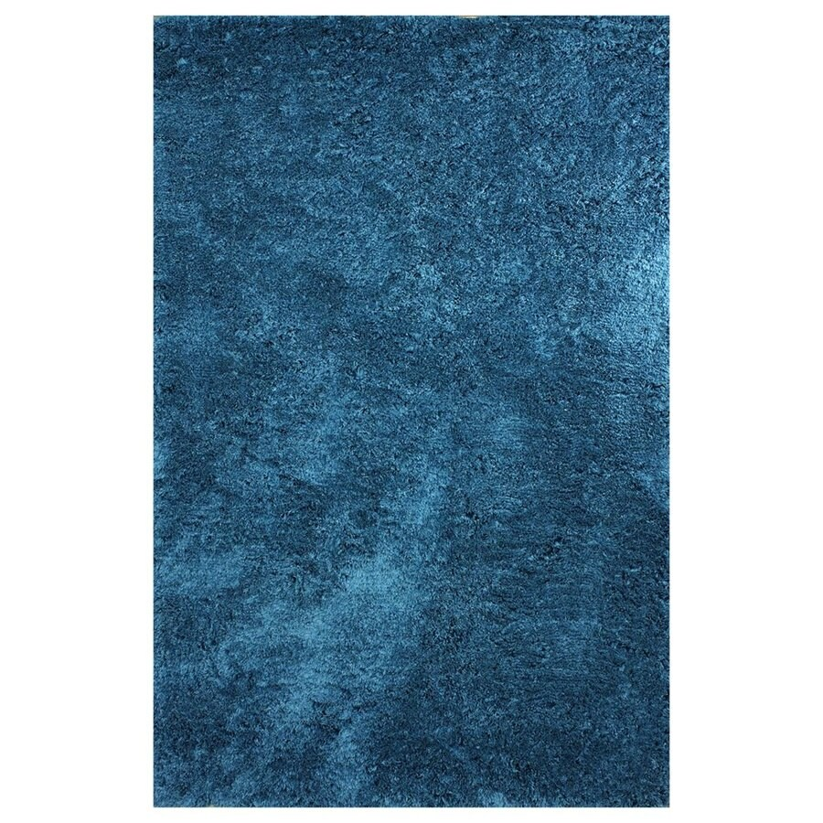 nuLOOM Teal Rectangular Indoor Handcrafted Area Rug (Common: 8 X 10; Actual: 7.5-ft W x 9.5-ft L)