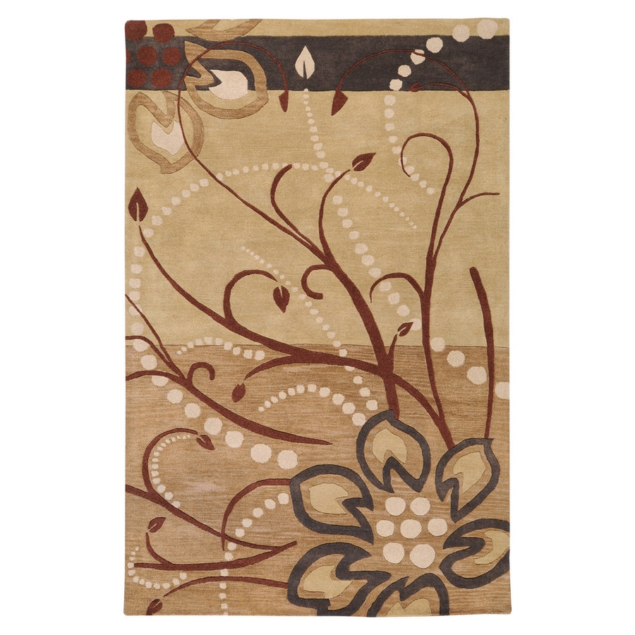 Surya Athena Tan Rectangular Indoor Handcrafted Nature Area Rug (Common: 4 x 6; Actual: 4-ft W x 6-ft L)