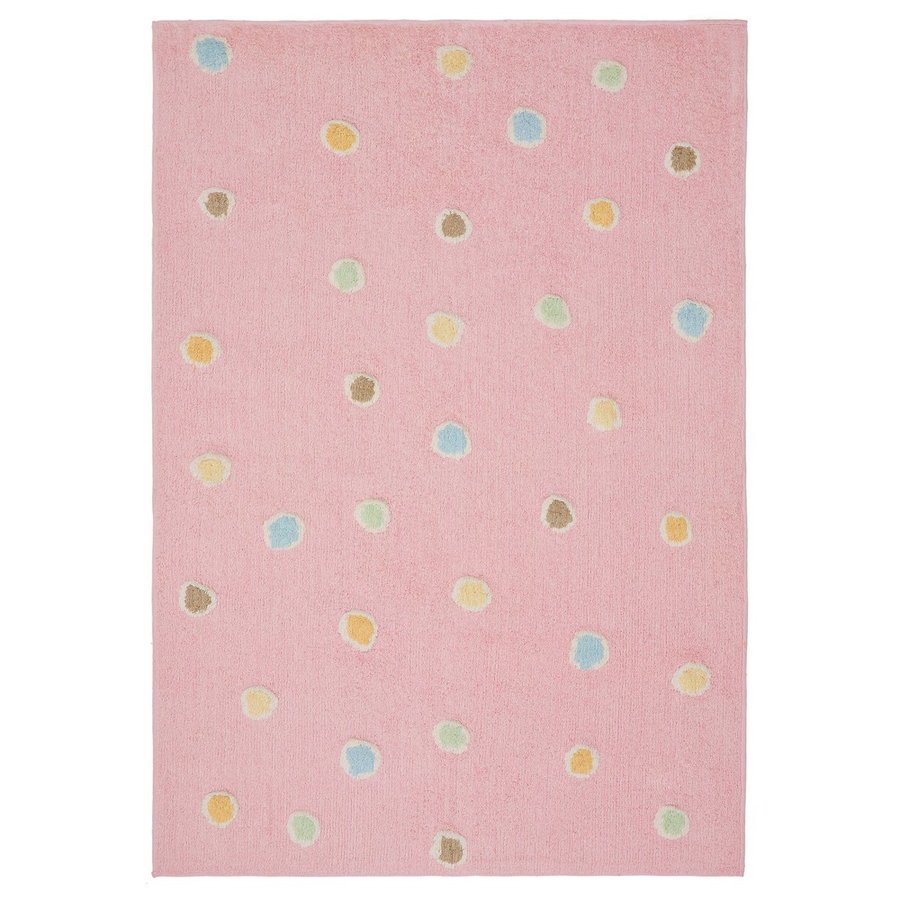 ST CROIX TRADING Carousel Pink Rectangular Indoor Handcrafted Area Rug (Common: 2 X 4; Actual: 2.5-ft W x 4.17-ft L)
