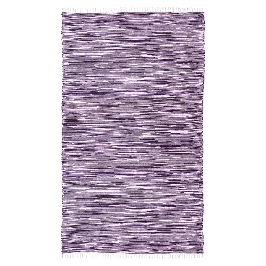 ST CROIX TRADING Complex Purple Rectangular Indoor Handcrafted Area Rug (Common: 4 X 6; Actual: 4-ft W x 6-ft L)