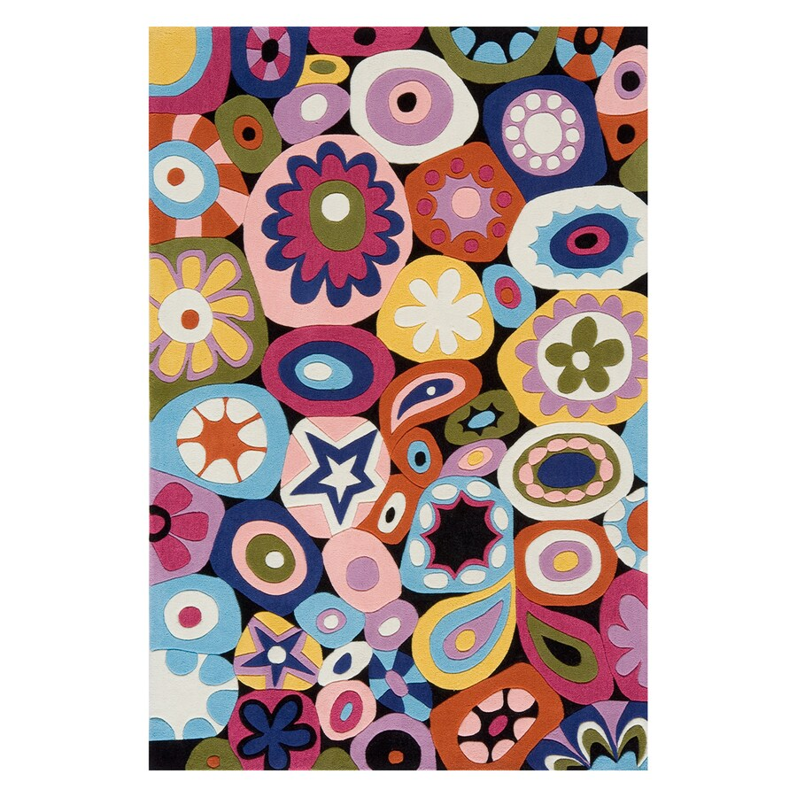Momeni Lil Mo Hipster Multi-colored Rectangular Indoor Handcrafted Novelty Area Rug (Common: 4 X 6; Actual: 4-ft W x 6-ft L)