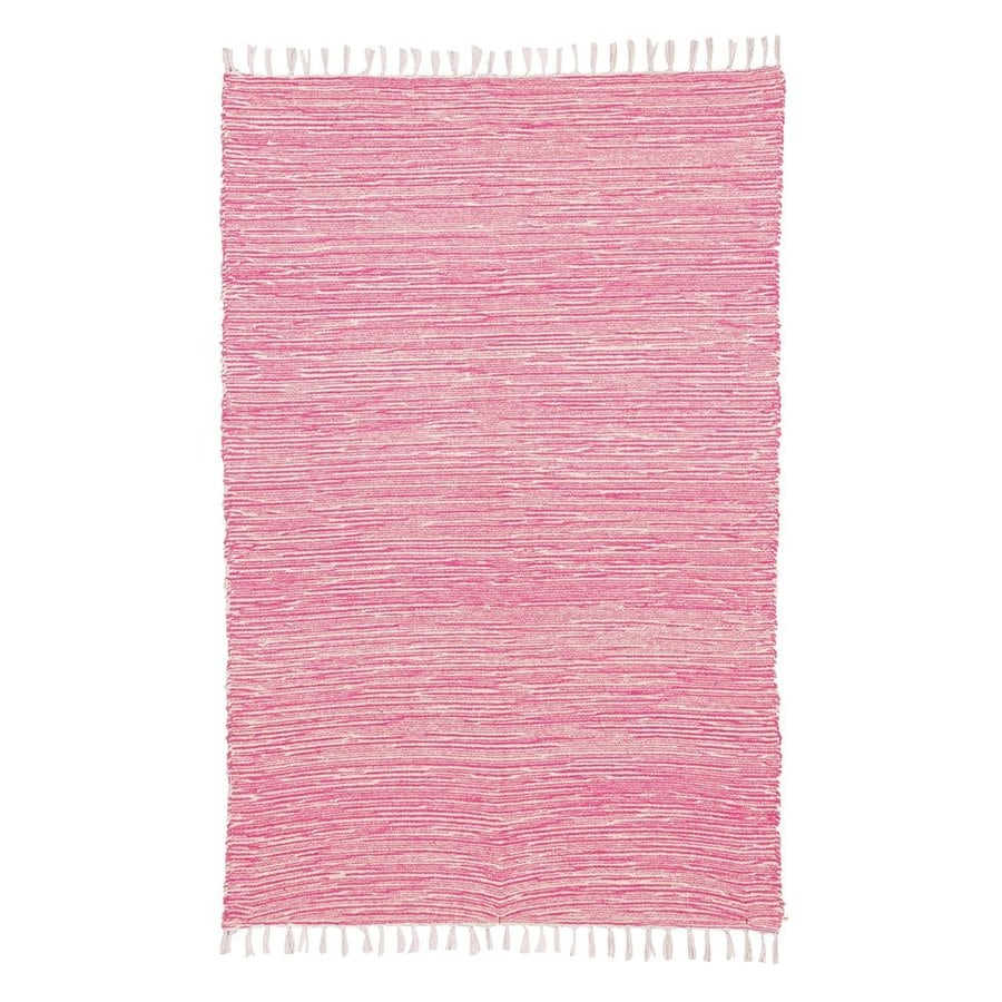ST CROIX TRADING Complex Pink Rectangular Indoor Handcrafted Area Rug (Common: 4 X 6; Actual: 4-ft W x 6-ft L)