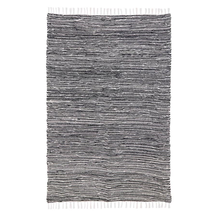 ST CROIX TRADING Complex Black Rectangular Indoor Handcrafted Area Rug (Common: 4 X 6; Actual: 4-ft W x 6-ft L)