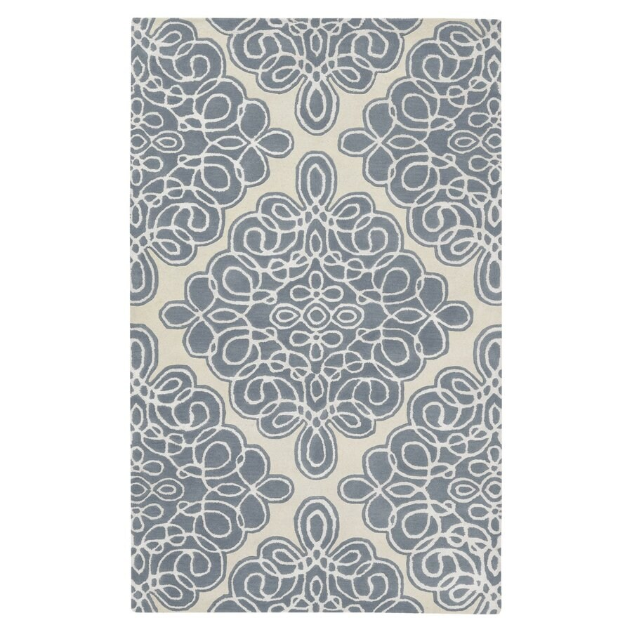 Surya Modern Classics Slate Blue Rectangular Indoor Handcrafted Oriental Throw Rug (Common: 3 x 5; Actual: 3-ft 3-in W x 5-ft 3-in L)