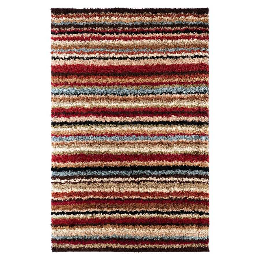 Surya Concepts Red Rectangular Indoor Machine-made Area Rug (Common: 5 x 7; Actual: 5-ft 3-in W x 7-ft 6-in L)