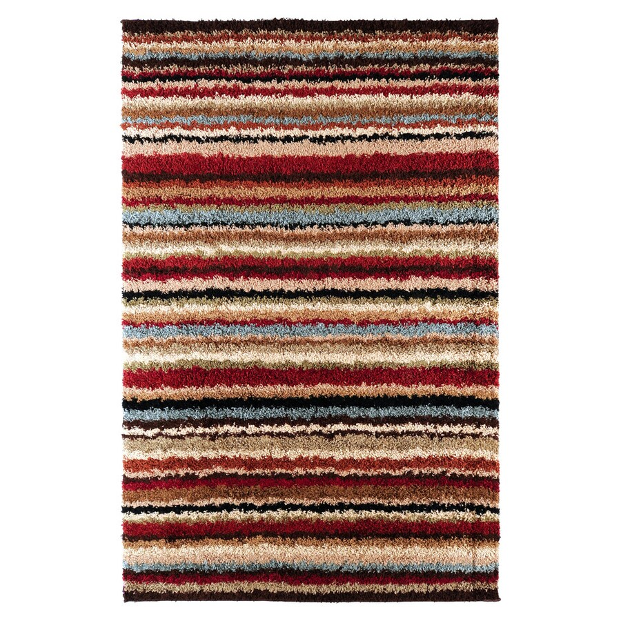 Surya Concepts Red Rectangular Indoor Machine-made Area Rug (Common: 7 x 10; Actual: 7-ft 10-in W x 10-ft 10-in L)