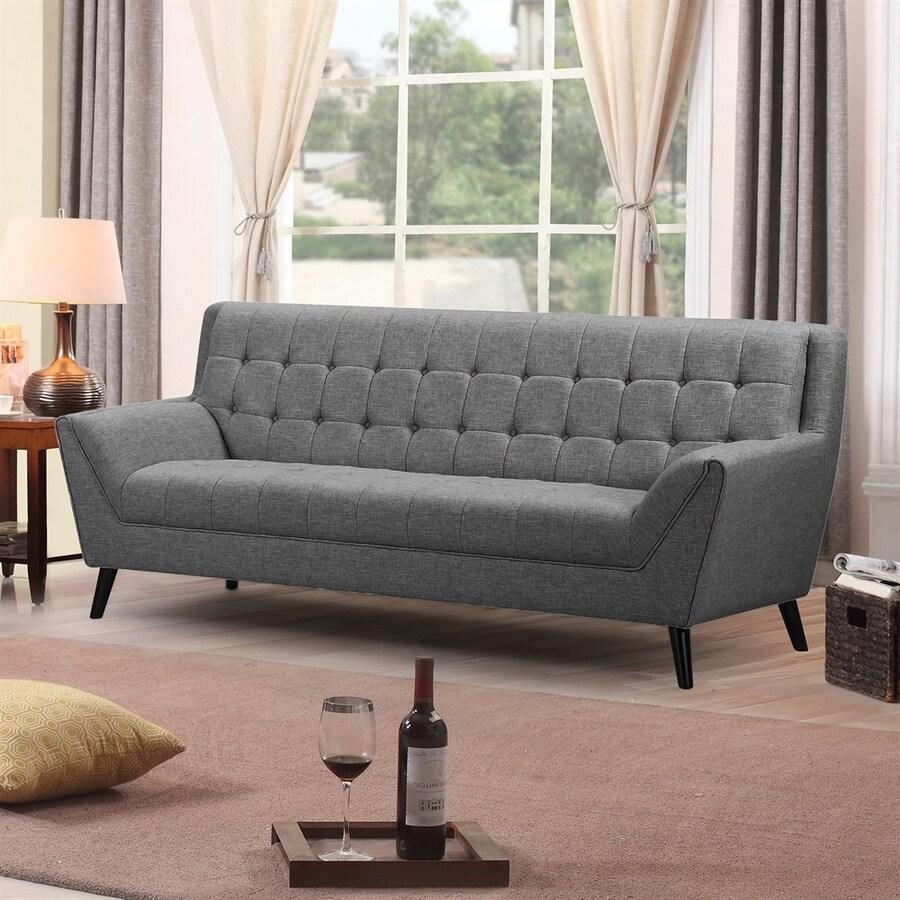 NobleHouse Adore Midcentury Grey Linen Sofa