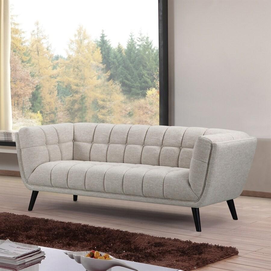 NobleHouse Odessey Midcentury Beige Linen Sofa