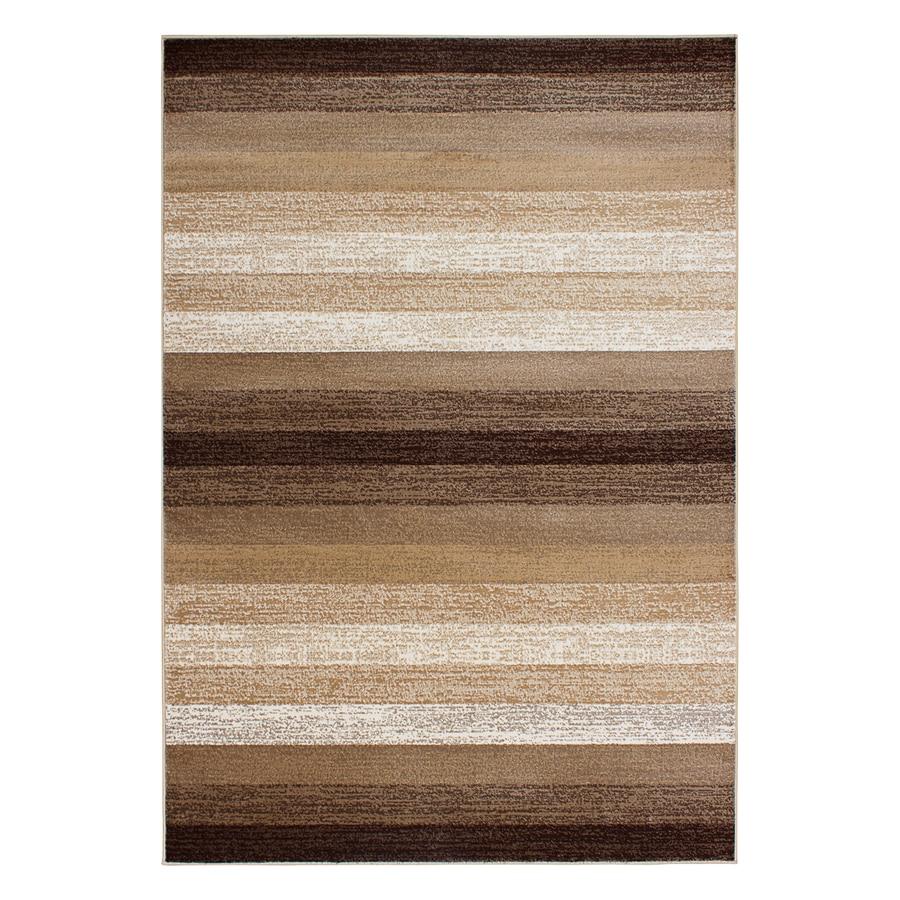 Segma Alberta Dark beige Rectangular Indoor Machine-made Area Rug (Common: 5 X 8; Actual: 5.25-ft W x 7.5-ft L)