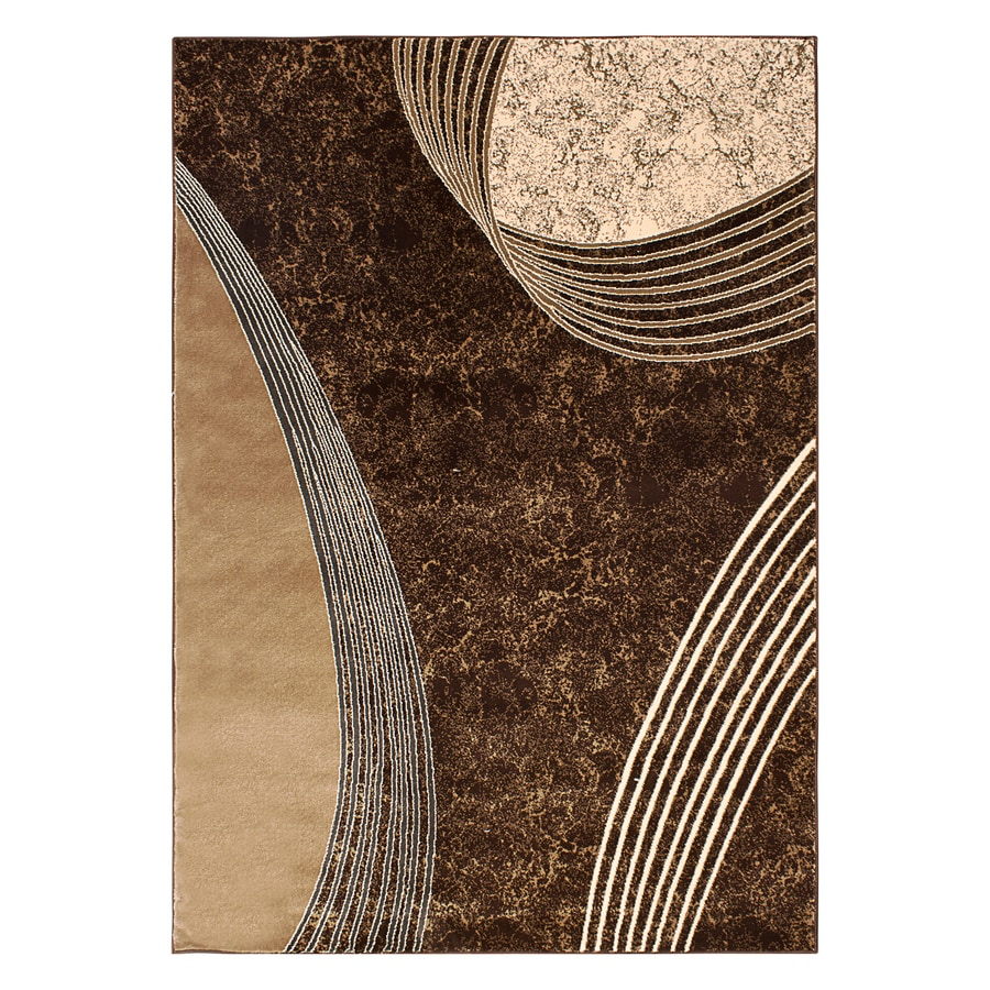 Segma Alberta Chocolate Rectangular Indoor Machine-made Area Rug (Common: 5 X 8; Actual: 5.25-ft W x 7.5-ft L)