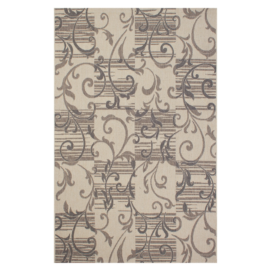 Segma Bahamas Light brown Rectangular Indoor/Outdoor Machine-made Nature Area Rug (Common: 5 X 7; Actual: 5-ft W x 7-ft L)