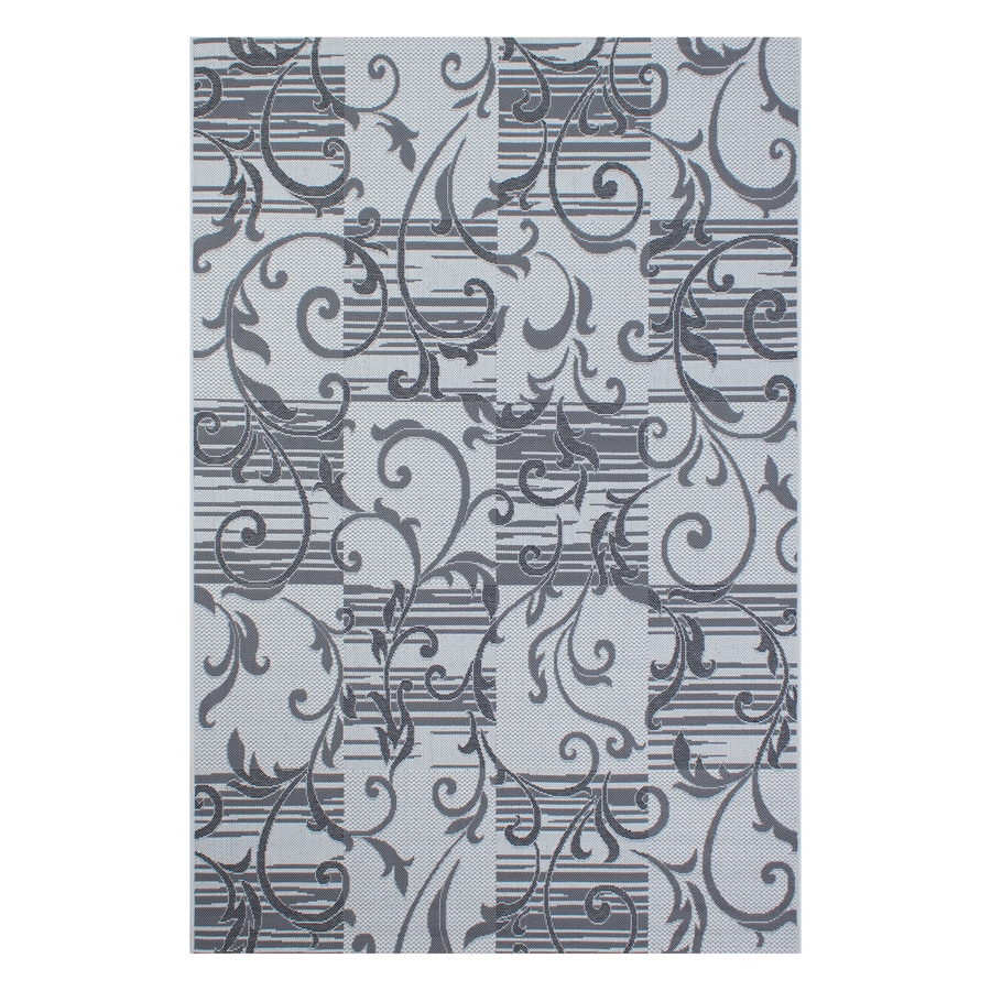 Segma Bahamas Anthracite Rectangular Indoor/Outdoor Machine-made Nature Throw Rug (Common: 2 X 3; Actual: 2-ft W x 3-ft L)