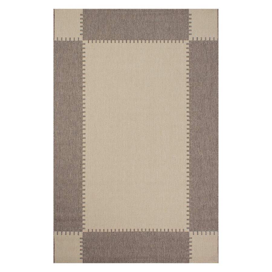 Segma Bahamas Light brown Rectangular Indoor/Outdoor Machine-made Area Rug (Common: 5 X 7; Actual: 5-ft W x 7-ft L)